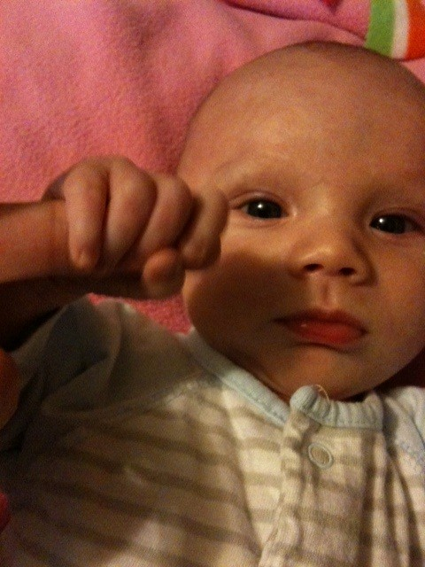 "I call this the ""baby death grip""."