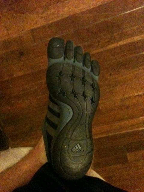 Bottom of Toe Shoes