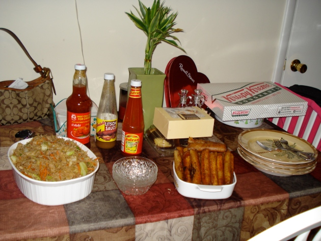 Oh ya, look at all of that food.