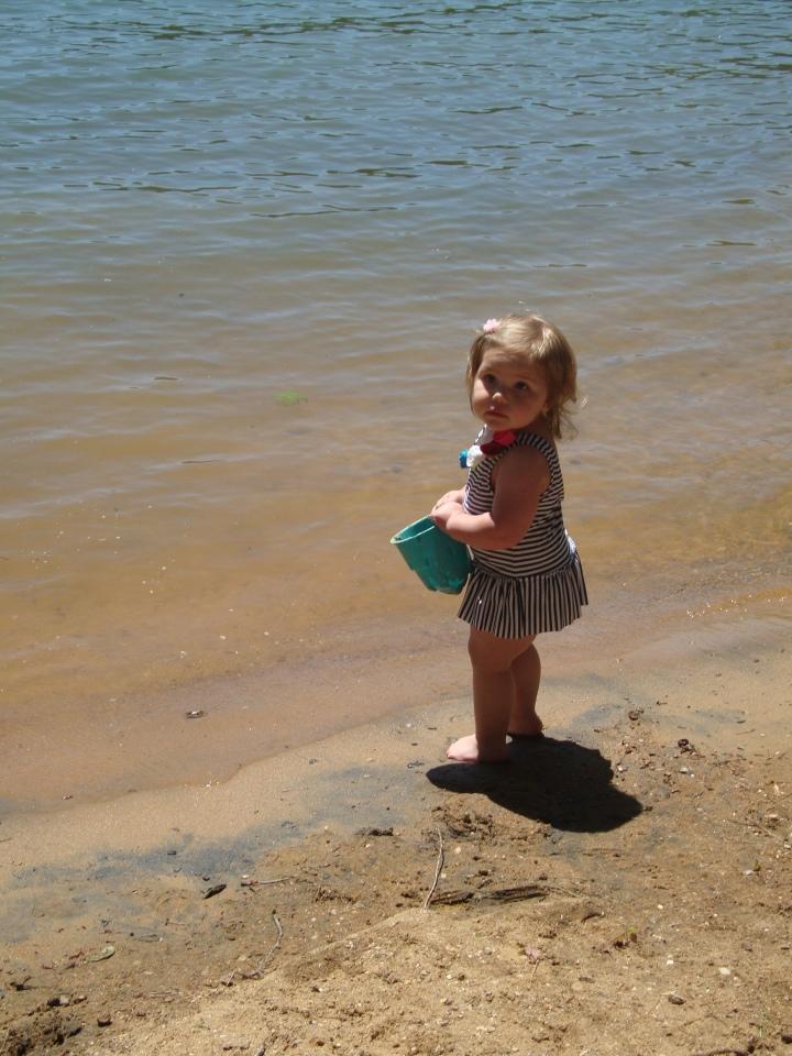 How cute is my niece's bathing suit??