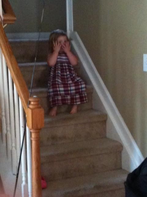 Niece hiding