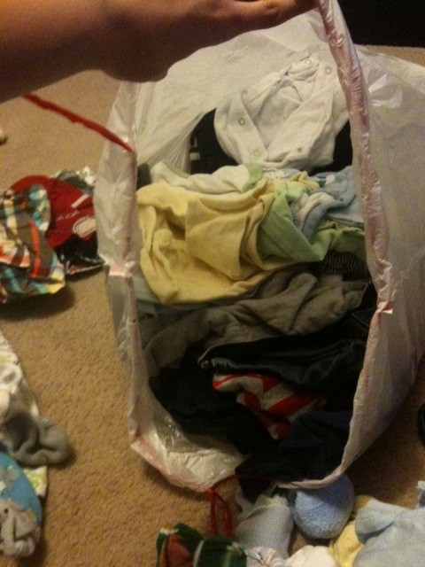 Baby Clothes Pile 2