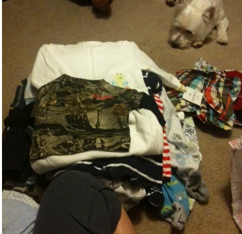 Baby Clothes Pile