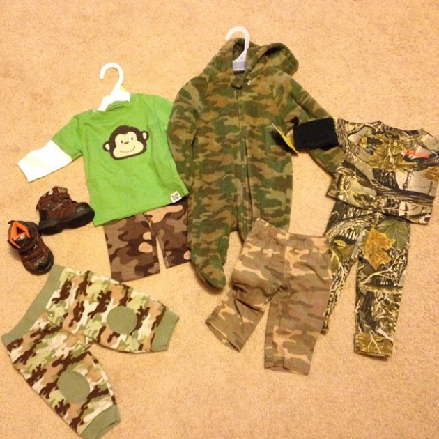 Seriously SO cute. Baby camo love. (This isn't even all of it.)