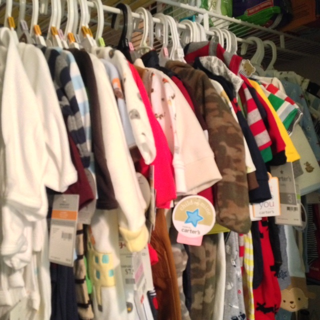 This is probably 1/16th of Peanut's clothes - LOL!