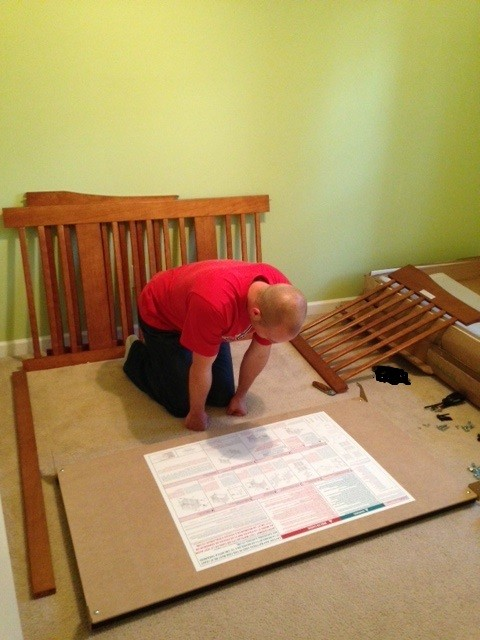 Putting the crib together