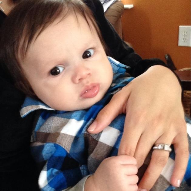 Holding my finger. =]