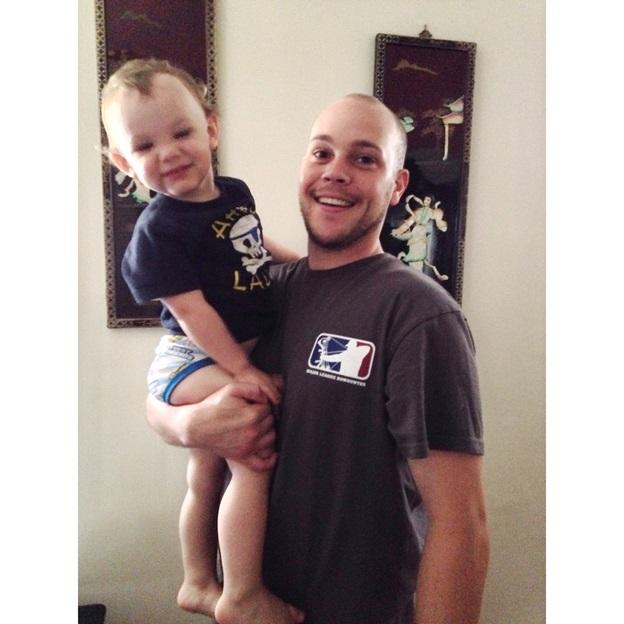 My nephew and Hubs.