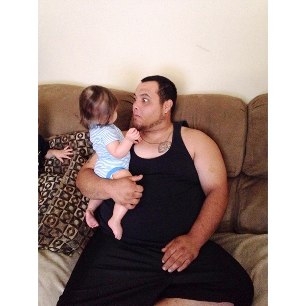 My brother and Peanut.