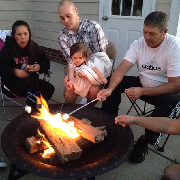Peanut LOVED roasting marshmallows. :]