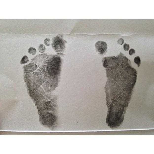 Tiny baby feet.